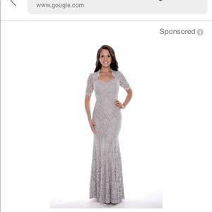 Dresses & Skirts - Long sequin silver dress.